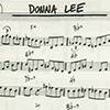 Sheet music for the jazz tune Donna Lee.